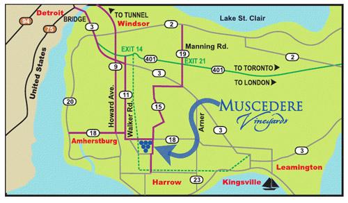 Muscedere Map